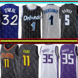 Wholesale Anfernee ретро Хардвей Шакил О Нил Джерси NCAA университета Trae Young Marvin Бэк III баскетбольных