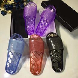Canada Designer Transparent Pantoufles 19ss Printemps Et D'été PVC Sandales Pantoufles Transparent Nouveau Cristal Chaussures Féminines Sable Plage Frais Pantoufles supplier transparent slippers Offre