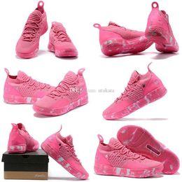 Tante perle sneakers online-mit boxCheap Mens KD 11 Basketball-Schuhe zum Verkauf Tante Pearl Pink Red Triple Schwarz Ostern Gelb KD11 Kevin Durant XI Turnschuhe