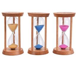 Moda 3 minutos marco de madera reloj de arena arena vidrio reloj de arena contador de tiempo cuenta regresiva casa cocina temporizador reloj decoración regalo desde fabricantes