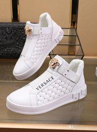 2020 automne et l hiver blanc chaussures de sport de mode en cuir pour hommes sur mesure, chaussures à lacets haut top tendance casual, taille: 38 45