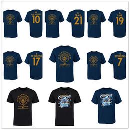 2019 camicie da campionato De BRUYNE AGUERO Silva Sane Sterling Manchester Campionato di calcio T-shirt città 2018 2019 Calcio Champions Tees maglia stampata Logo del marchio camicie da campionato economici