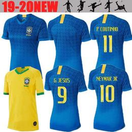 2d5835d5b NEW 2019 Brazil World cup brasil jersey Female MARCELO girl lady G.JESUS P.COUTINHO  FIRMINO home soccer football jersey shirts 19 20 woman