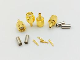 Conector macho rf on-line-SMA plugue macho crimp RG174 RG316 LMR100 cabo conector RF