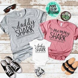 f0852bd4b dad tee shirts Coupons - OKOUFEN Papa Baby Mama Shark T-Shirt Matching  Family Mom