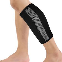 sutiã elástico Desconto Compressão Calf Sleeve Para Sports executando apoiar a formação Leg Atlético Calf Elastic respirável malha Sports Enrole Guarda