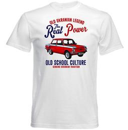 Звуковые активированные майки онлайн-VINTAGE UKRANIAN CAR ZAZ 968 - НОВАЯ ХЛОПКОВАЯ ФУТБОЛКА мужская мода Black Cotton Sound Activated Led T Shirt Мужчины Лето