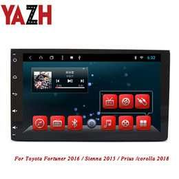 2019 radio coche android toyota corolla YAZH 2 Din Android Car DVD estéreo para Toyota Fortuner 2016 / Sienna 2015 / Prius / corolla 2018 GPS Multimedia Radio AUX Bluetooth radio coche android toyota corolla baratos
