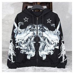 Sternenfeuer online-Dear2019 Ulzzang Anzug-Kleid Pullover Easy Stars Doodle Lazy Wind Jacke Ins Exceed Fire Auch Hut Lose Mantel