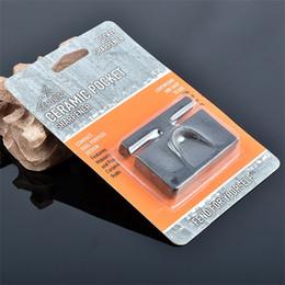 Piccole macchine portatili online-Mini affilacoltelli a due lati Piccola e squisita spada Stone Portable Black Stoning Machine Fast Antiscivolo 5 5bsb1