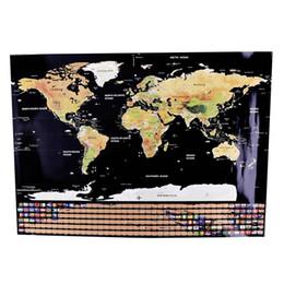 Офисные принадлежности зеленый онлайн-Карта Персонализированная карта мира Mini Creative Scratch Off Office Товары Word Map