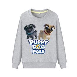 Niños primavera otoño de manga larga sudaderas con capucha ropa niños niñas perrito perro amigos sudadera niños ropa exterior bebé camiseta DZ003 desde fabricantes