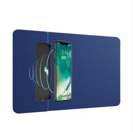 tapete do carregador qi Desconto Telefone Móvel Universal Qi Carregador Sem Fio 10 W Carregamento Mouse Pad 5 V / 2A Mat PU de Couro Mousepad para o iPhone X / 8 Plus samsung