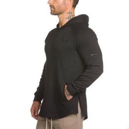 Canada 2019 Hommes Bodybuilding Hoodies Gyms Marque Vêtements Hommes Sweat À Capuche Côté Zipper Casual Sweat Mens Fit À Capuche Vestes M-2XL cheap bodybuilding sweatshirts Offre