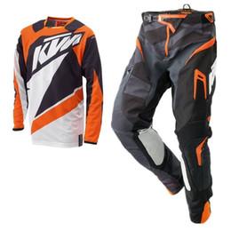 2020 envío combinado El envío gratuito 2020 KTM de motocross Jersey y pantalones MX Combo motocrós que compite con Racewear bici de la suciedad del camino Equipo para la conducción Conjunto envío combinado baratos