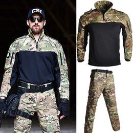 2019 taktischer kampfanzug US Armee-Kampf-Uniform Frosch Anzug Langarm Männer Anzüge Outdoor Tactical Sport Jagd-Kleidung rabatt taktischer kampfanzug
