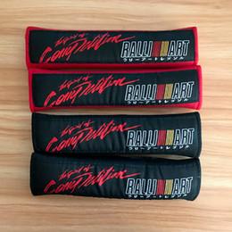 lancer acessórios Desconto JDM Ralliart emblema Hella Car Lave assento macio tampa da correia almofada de ombro de algodão para Mitsubishi Lancer 10 acessórios evo Evolução