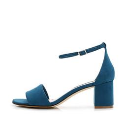 d7cf5572fe68 2018 Shoes Women Fashion Brand Lady Sandal Black Peep Toe Ankle Buckle Med  Heel Adult Girl Footware Female Chaussure