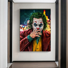 Movie Star The Joker Oil Canvas Painting Prints Joke ic Art Painting Wall for Living Room Home Decor