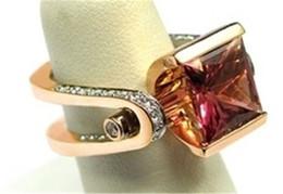 artigos femininos Desconto Nova moda feminina adornam artigo chapeamento ouro rosa rubi natural anel de diamante princesa noiva anel de noivado size5-12