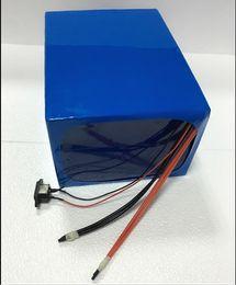 Elektrische batterien online-48 v 2000 watt akku 48 V 25AH elektrische fahrradbatterie 48 v 25ah lithium-ionen-akku Mit 54,6 V 5A Ladegerät Freies zollgebühr