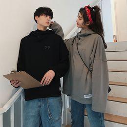 Cartoon Animal Monkey Print Exo Sweatshirts Autumn 2019 Spring Coat Women Couple Hoodies Korean Tops Goth Green Streetwear X112 Women's Clothing