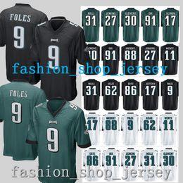 Camiseta de 9 Nick Foles Camisetas de Philadelphia Eagle 17 Camiseta de  Alshon Jeffery 91 Fletcher Cox 86 Zach Ertz 88 Dallas Goedert 20 Brian  Dawkins 7261f8fcfca