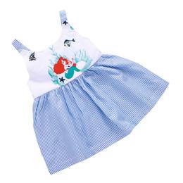 Vestido crianças europe on-line-Vestidos Da Menina do desenhista Crianças Roupas Meninas Maternidade Algodão Impresso Europa América Dos Desenhos Animados Listra Tarja Vestido De Princesa 40