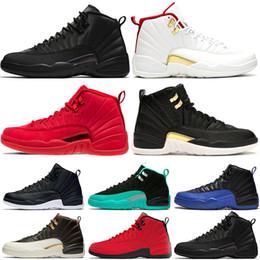 zapatillas de deporte de nylon Rebajas Nike Air Jordan reCalzado de invierno WNTR Gym Red Bulls para hombre 12 12s zapatos de baloncesto Michigan Bordeaux The Master Flu Game taxi XII zapatillas deportivas zapatillas de deporte tamaño 7-13