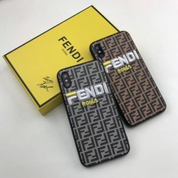 capas de telefone absorventes de choque Desconto 2019 nova chegada celular case para iphonexsmax xr xs 7 plus / 8 plus 7/8 6 s / 6sp6 / 6 s f cartas de bordado capa protetora de volta 2 estilo