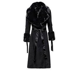 2019 cappotti invernali flare Soprabito lungo in lana femminile elegante  Cappotto a maniche lunghe con collo 6ea8b0c99c4