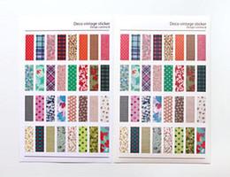 calendario del libro de recuerdos Rebajas Cuaderno Álbum Calendario Calendario Notas Memo Decoración Scrapbook Papel Etiqueta 6 Unids / lote Floral Plaid Print Memo Pads