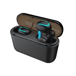 2019 telefono senza fili del bluetooth Cuffia senza fili Bluetooth per cuffia auricolare sportiva con microfono Q32 TWS Bluetooth 5.0 auricolari in-ear con microfono
