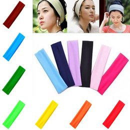 2019 ornement de dames Nouvelles femmes mode plaine large bande de cheveux Sports Yoga élastiques bandeaux dames cheveux ornement bandeau T9C001 ornement de dames pas cher