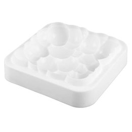 grid mold silicone Promo Codes - 3Pcs Grid Block Clouds Ripple 3D Mousse Cake Moulds For Ice Creams Chocolates Cake Mold Pan Bakeware Geometric shapes Mould