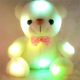 boring toys Coupons - Colorful LED Flash Light Bear Doll Plush Animals Stuffed Toys Size 20cm - 22cm Bear Gift For Children Christmas Gift Stuffed Plush toy