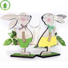 Pieles de escritorio online-2019 Recién llegado de Pascua Decoraciones Conejito de juguete Precioso Nordic Easter Decoraciones de Escritorio Skins para niños regalos de Navidad