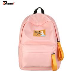 77a66cc473340 2019 satchel taschen rosa Nette Mädchen Schultaschen für Teenager Nylon Frauen  Rucksack Schule Adrette Student Schultasche
