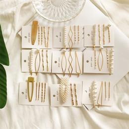 pedaços de cabelo moda Desconto Mossovy Simulação Coreano Pérola De Ouro Pinos de Cabelo de Quatro peças Set para As Mulheres Da Moda Acessórios Para o Cabelo de Casamento Jóias Hairclip