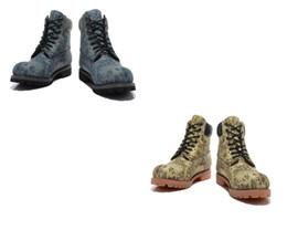 Argentina Alta calidad madera clásica 6 pulgadas Mens Zoológicos Fotos Caqui Azul Trigo Diseñador Botas de senderismo deportivas Zapato deportivo Marca de lujo azul Gris Botas Suministro