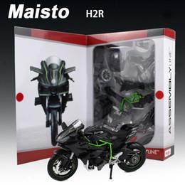 2019 motocicletas de brinquedo Maisto liga 1:12 assembléia modelo de motocicleta brinquedo 3d montado bicicleta do motor h2r kits de construção de carros modelos de quebra-cabeça kids toys presente desconto motocicletas de brinquedo