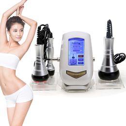 Máquina de apriete rf online-Máquina de belleza ultrasónica de pérdida de peso por cavitación 40K 3 EN 1Multipolar RF Radio frecuencia de estiramiento de la piel Tighten Rejuvenecimiento antiarrugas