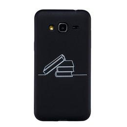 samsung grand prime schwarz Rabatt Coque fundas abdeckung für samsung galaxy j3 2015 j3 2016 j2 prime / grand g530 case schwarz weiche tpu matte abstrakte malerei telefon case