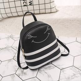 2019 telefone móvel bonito coreano 2019 coreano-Style Crianças Backpack Sorriso face bonito Couro Ombro Mobile Phone Bag Mulheres pequeno Bagpack para littke meninas miúdos desconto telefone móvel bonito coreano