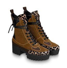 2019 leopard stiefeletten Designer Damen Martin Boots Brand Damen Stiefeletten Echtes Leder Leopard Design Damen Wüstenstiefel Designer Damen Stiefeletten rabatt leopard stiefeletten
