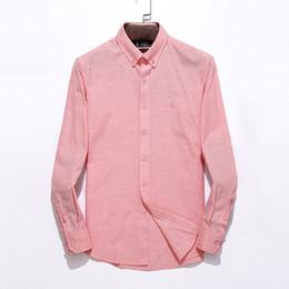 Nouvelle photo de chemises en Ligne-T-shirt polo real picture 100% coton Chemises Casual Classiques À Manches Longues Robe Homme Vêtements Chemises Turn-down Plus Taille