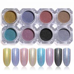 2019 caixa holo 1 Caixa Holográfica Prego Em Pó Da Arte Do Prego Holo Acrílico Glitter Shimmer Poeira Cromo Pigmento DIY Manicure Prego Acessórios de Design caixa holo barato