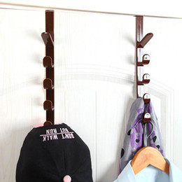 Plastikbekleidung online-Hängende Racks Tür-Aufhänger-Haken-Schrank Schrank Rack Kunststoff Hut Kleidung Beutel-Aufhänger Startseite Organizer 1 PC