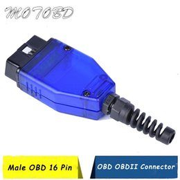 adaptadores de cable obd2 Rebajas OBD 2 Adaptador de enchufe OBD 16Pin OBD2 de 16 pines Conector II cable adaptador OBDII J1962 conector de diagnóstico del coche masculino