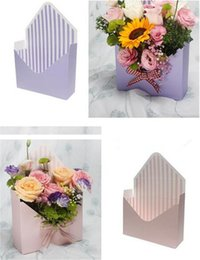 Pasta di paglia online-Nuova busta creativa festiva Fold Flower Box Busta Fold Flower Box Wedding Fidanzamento Forniture Party Decor